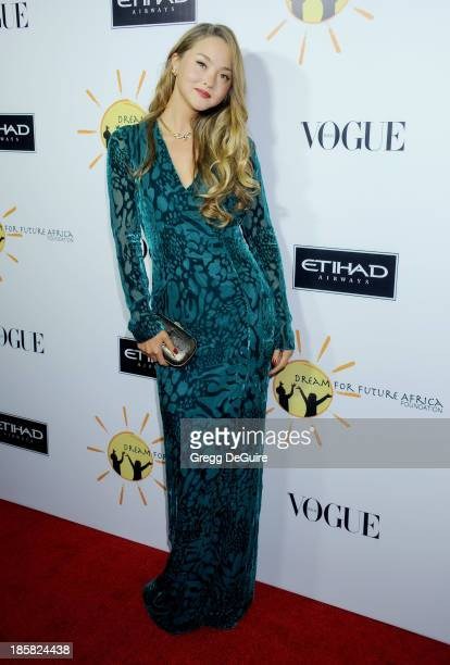 Actress Devon Aoki arrives at the Dream For Future Africa Foundation Gala at Spago on October 24 2013 in Beverly Hills California