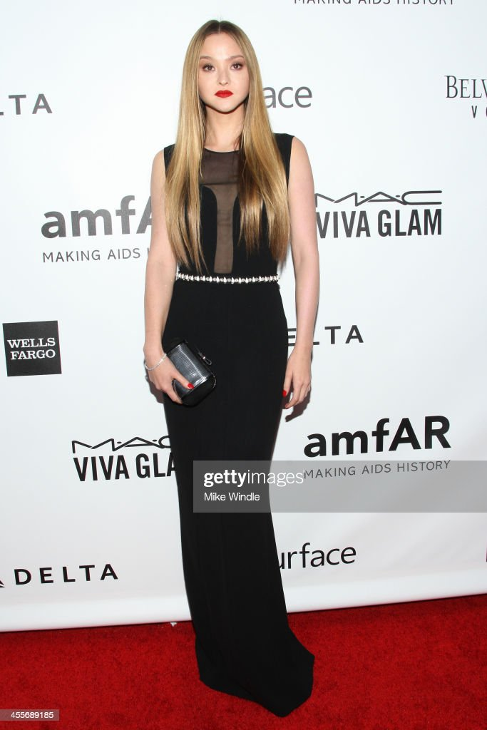 Actress <a gi-track='captionPersonalityLinkClicked' href=/galleries/search?phrase=Devon+Aoki&family=editorial&specificpeople=217563 ng-click='$event.stopPropagation()'>Devon Aoki</a> attends the 2013 amfAR Inspiration Gala Los Angeles at Milk Studios on December 12, 2013 in Los Angeles, California.