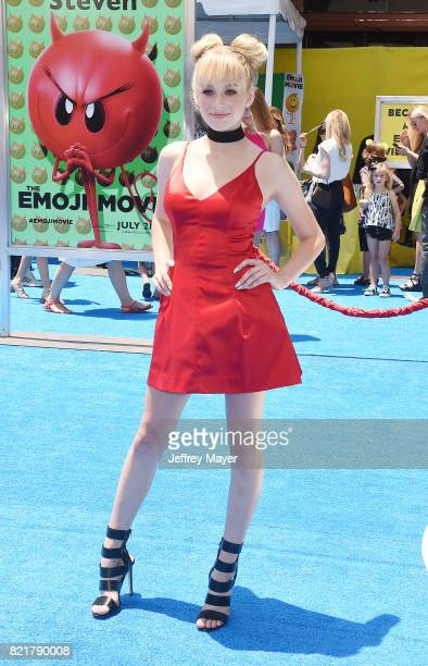 Actress Devore Ledridge arrives at the Premiere Of Columbia Pictures And Sony Pictures Animation's 'The Emoji Movie' at Regency Village Theatre on...