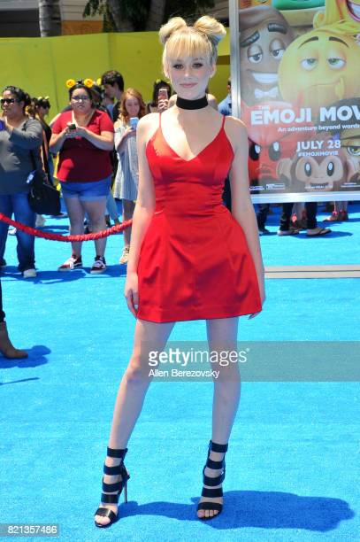 Actress DeVore Ledridge attends the premiere of Columbia Pictures and Sony Pictures Animation's 'The Emoji Movie' at Regency Village Theatre on July...