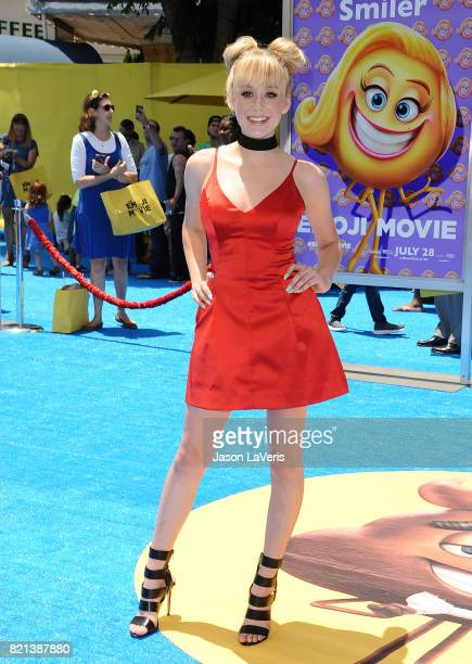 Actress DeVore Ledridge attends the premiere of 'The Emoji Movie' at Regency Village Theatre on July 23 2017 in Westwood California