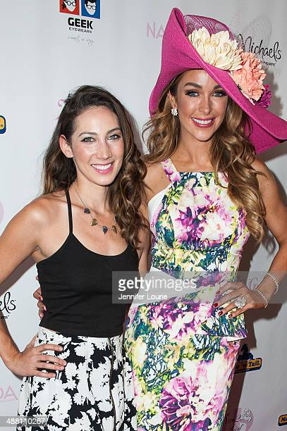Actress Devyn LaBella and model Courtney Sixx arrive at the Kentucky Derby Celebration Ladies Luncheon at the Four Seasons Hotel on May 3 2014 in...