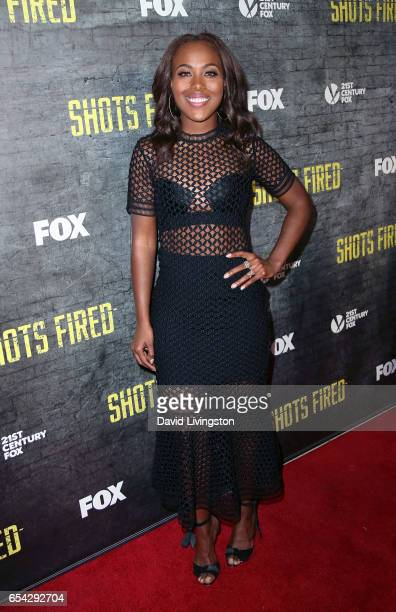 Actress DeWanda Wise attends a screening and discussion of FOX's 'Shots Fired' at Pacific Design Center on March 16 2017 in West Hollywood California