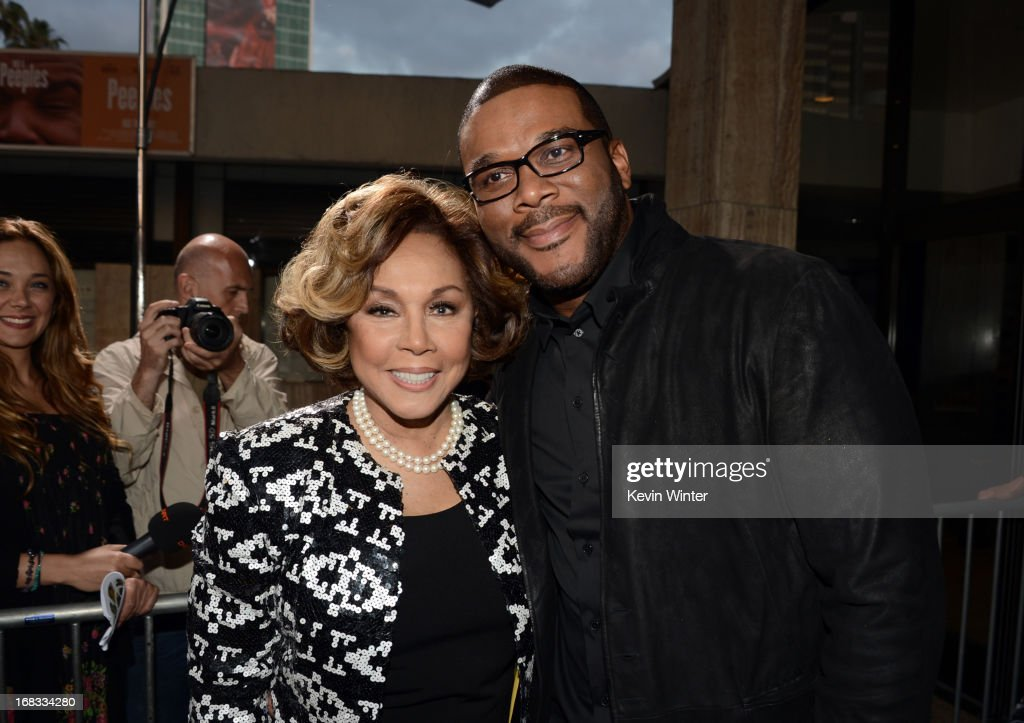 Actress <a gi-track='captionPersonalityLinkClicked' href=/galleries/search?phrase=Diahann+Carroll&family=editorial&specificpeople=240336 ng-click='$event.stopPropagation()'>Diahann Carroll</a> (L) and producer <a gi-track='captionPersonalityLinkClicked' href=/galleries/search?phrase=Tyler+Perry&family=editorial&specificpeople=678008 ng-click='$event.stopPropagation()'>Tyler Perry</a> arrive at the premiere of 'Peeples' presented by Lionsgate Film and <a gi-track='captionPersonalityLinkClicked' href=/galleries/search?phrase=Tyler+Perry&family=editorial&specificpeople=678008 ng-click='$event.stopPropagation()'>Tyler Perry</a> at ArcLight Hollywood on May 8, 2013 in Hollywood, California.