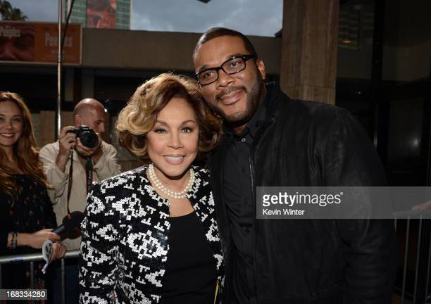 Actress Diahann Carroll and producer Tyler Perry arrive at the premiere of 'Peeples' presented by Lionsgate Film and Tyler Perry at ArcLight...