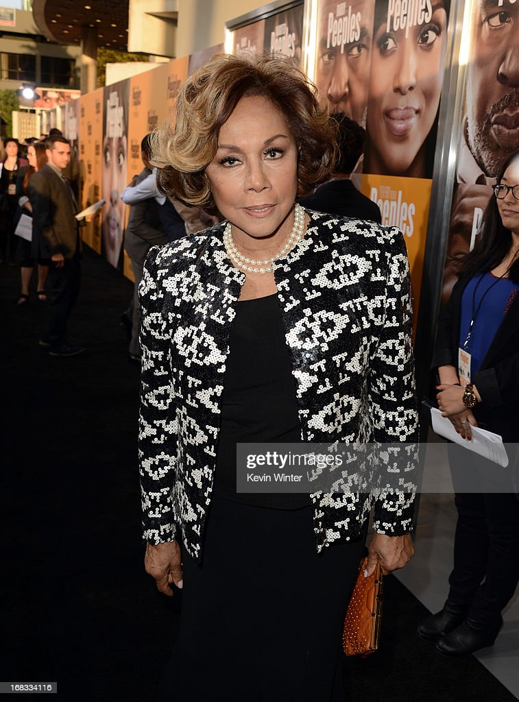 Actress <a gi-track='captionPersonalityLinkClicked' href=/galleries/search?phrase=Diahann+Carroll&family=editorial&specificpeople=240336 ng-click='$event.stopPropagation()'>Diahann Carroll</a> arrives at the premiere of 'Peeples' presented by Lionsgate Film and Tyler Perry at ArcLight Hollywood on May 8, 2013 in Hollywood, California.
