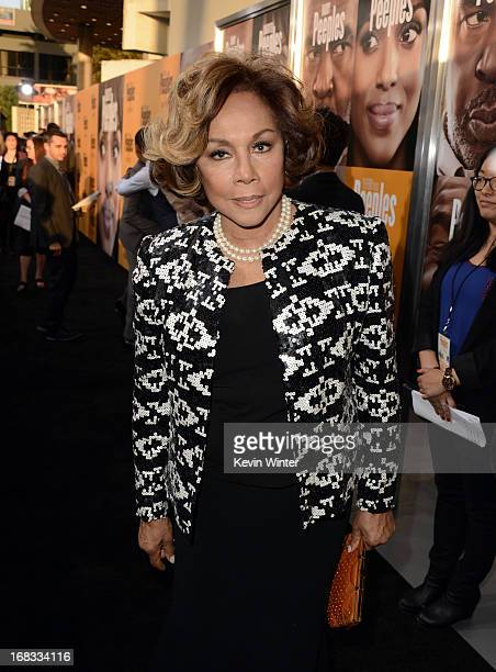 Actress Diahann Carroll arrives at the premiere of 'Peeples' presented by Lionsgate Film and Tyler Perry at ArcLight Hollywood on May 8 2013 in...