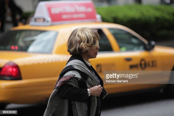 Actress Diahann Carroll attends the funeral services for entertainer Lena Horne at the Church of St Ignatius Loyola on May 14 2010 in New York City