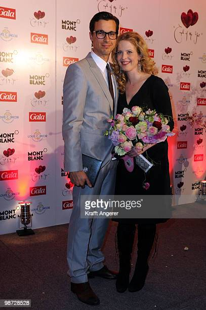Actress Diana Amft and actor Florian David Fitz pose at the GALA Couple of the Year Event on April 28 2010 in Hamburg Germany