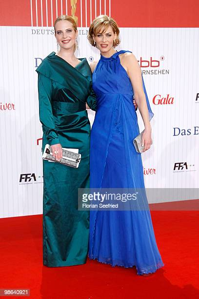 Actress Diana Amft and actress Gesine Cukrowski attend the German film award at Friedrichstadtpalast on April 23 2010 in Berlin Germany
