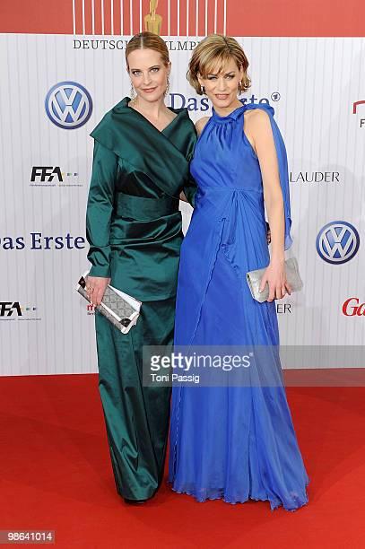 Actress Diana Amft and actress Gesine Cukrowski attend the 'German film award 2010' at Friedrichstadtpalast on April 23 2010 in Berlin Germany