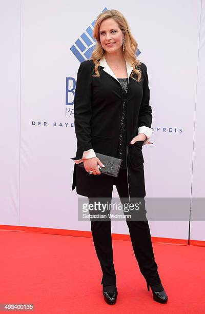 Actress Diana Amft arrives for the taping of the 'Bayerischer Fernsehpreis 2014' at Prinzregententheater on May 23 2014 in Munich Germany