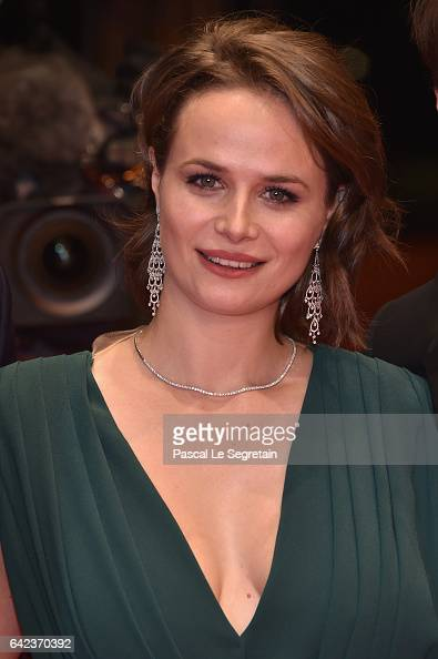Actress Diana Cavallioti attends the 'Ana mon amour' premiere during the 67th Berlinale International Film Festival Berlin at Berlinale Palace on...