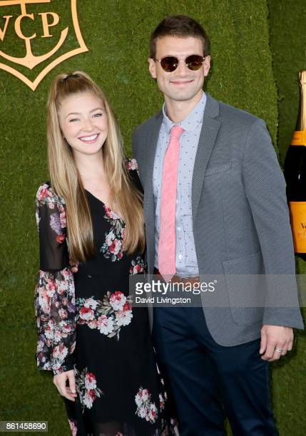 Actress Diana Hopper and Alex Russell attend the 8th Annual Veuve Clicquot Polo Classic at Will Rogers State Historic Park on October 14 2017 in...