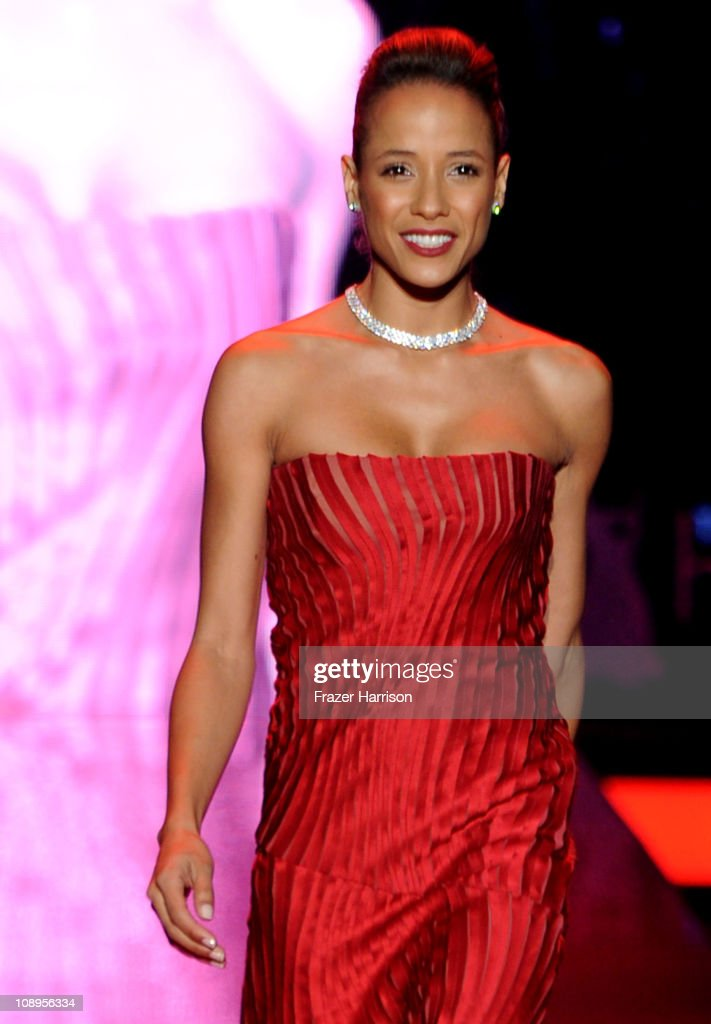 Actress Diana Ramirez walks the runway at the Heart Truth Fall 2011 fashion show during Mercedes-Benz Fashion Week at The Theatre at Lincoln Center on February 9, 2011 in New York City.