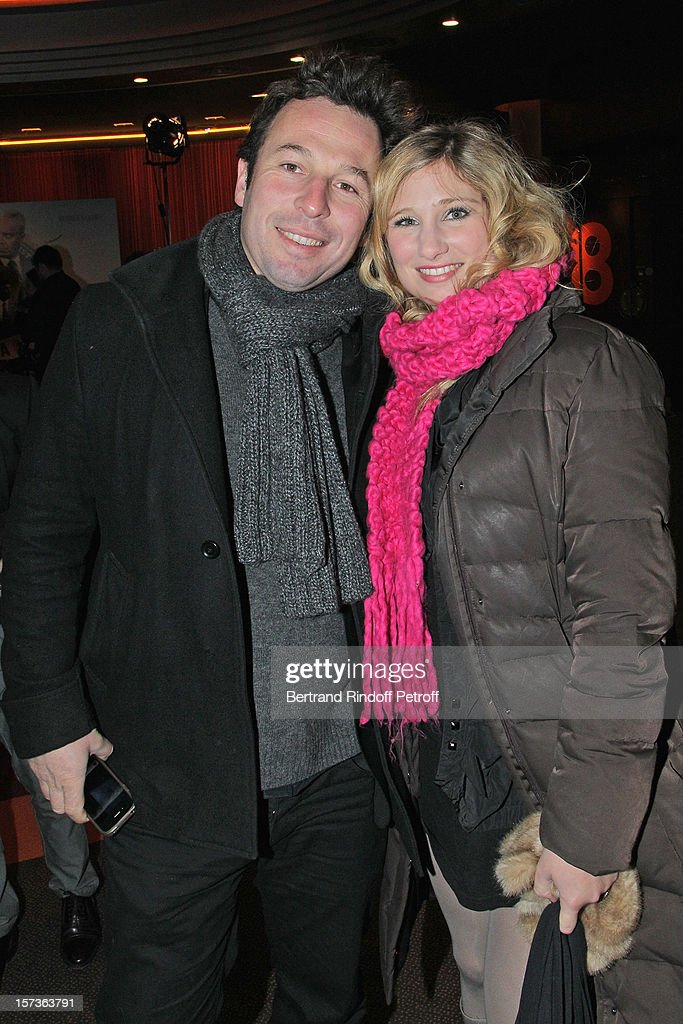 Actress Diane Dassigny (R) and photographer Pable De Selva attend the Paris Premiere of the movie 'Mais Qui A Re Tue Pamela Rose', at Cinema Gaumont Marignan on December 2, 2012 in Paris, France.