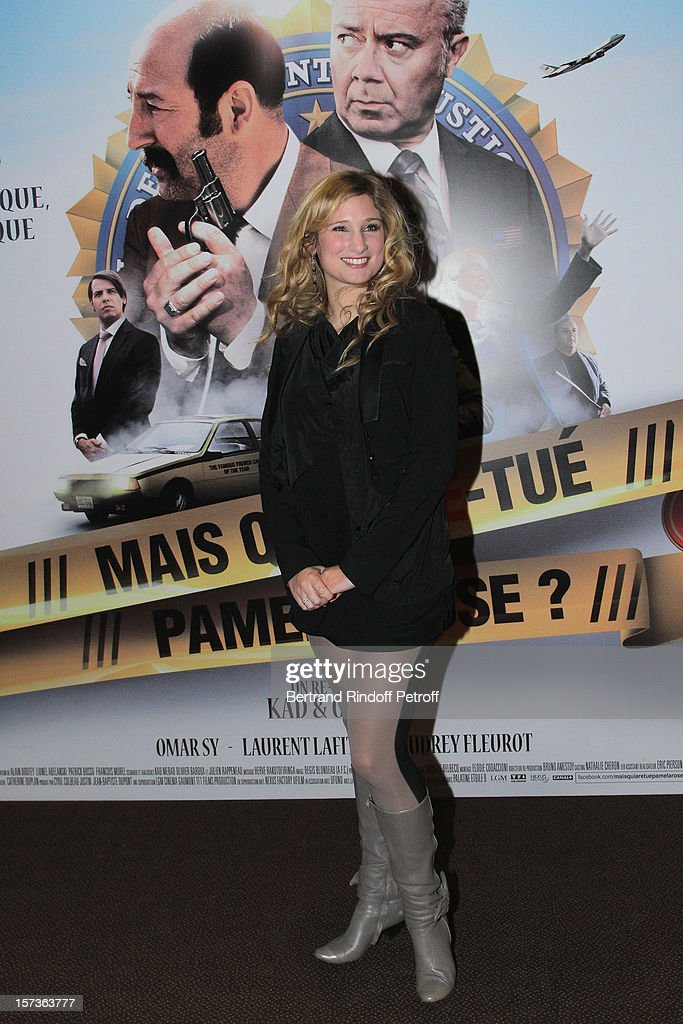 Actress Diane Dassigny attends the Paris Premiere of the movie 'Mais Qui A Re Tue Pamela Rose', at Cinema Gaumont Marignan on December 2, 2012 in Paris, France.