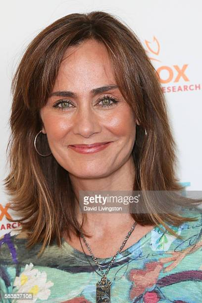 Actress Diane Farr arrives at Raising The Bar To End Parkinson's at Laurel Point on July 27 2016 in Studio City California