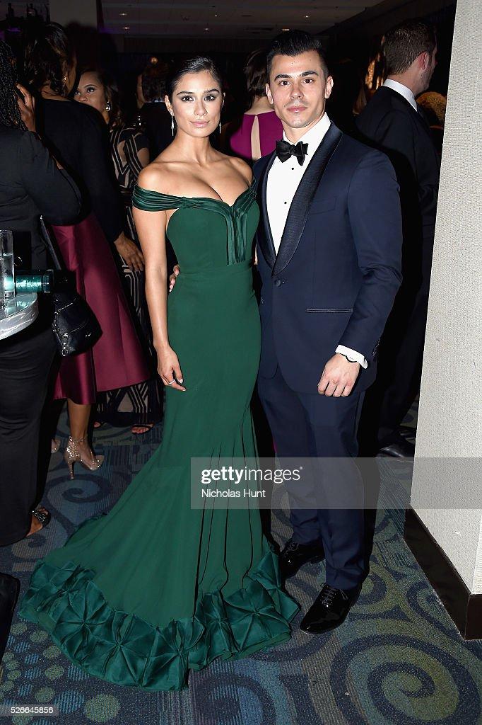 Actress Diane Guerrero (L) and Joseph Ferrara attend the Yahoo News/ABC News White House Correspondents' Dinner Pre-Party at Washington Hilton on April 30, 2016 in Washington, DC.