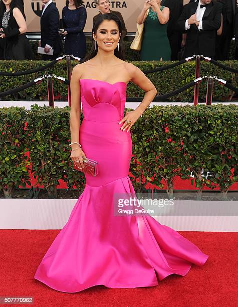 Actress Diane Guerrero arrives at the 22nd Annual Screen Actors Guild Awards at The Shrine Auditorium on January 30 2016 in Los Angeles California