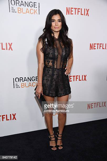 Actress Diane Guerrero attends 'Orange Is The New Black' premiere at SVA Theater on June 16 2016 in New York City