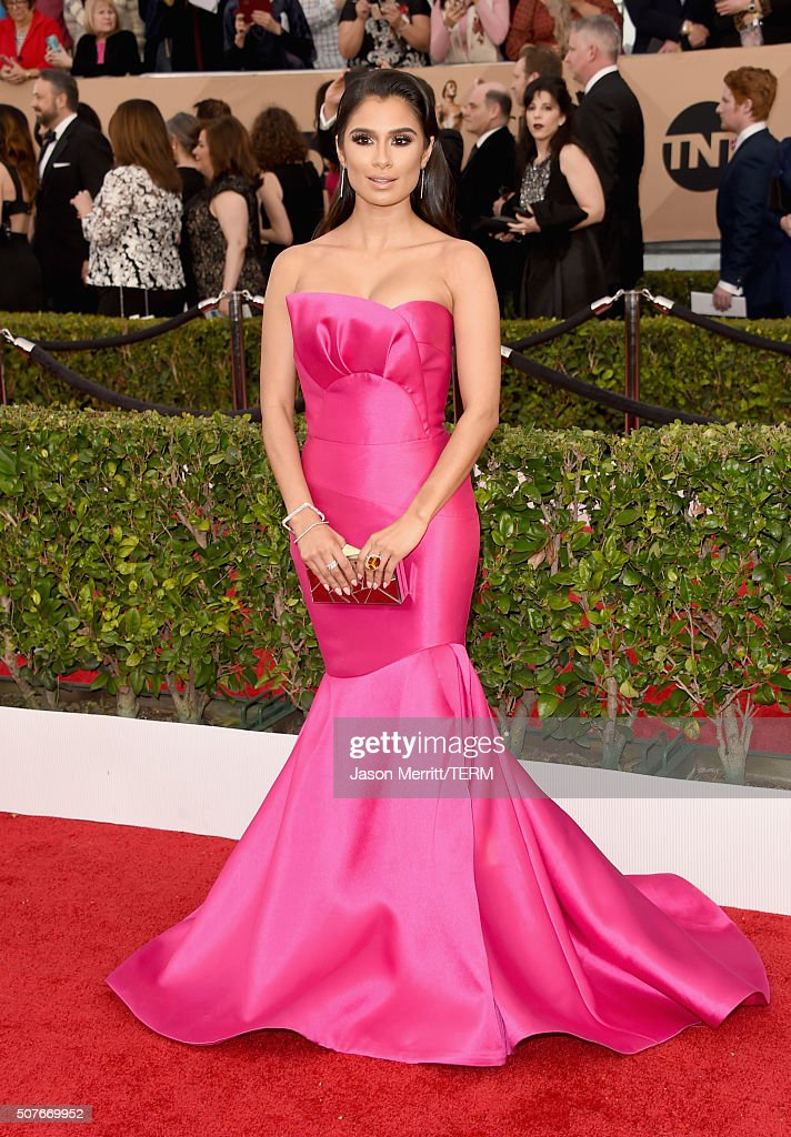 Actress Diane Guerrero attends The 22nd Annual Screen Actors Guild Awards at The Shrine Auditorium on January 30, 2016 in Los Angeles, California. 25650_015