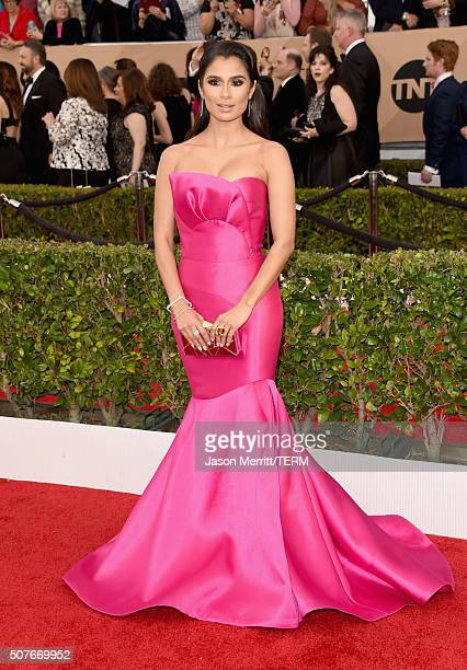 Actress Diane Guerrero attends The 22nd Annual Screen Actors Guild Awards at The Shrine Auditorium on January 30 2016 in Los Angeles California...
