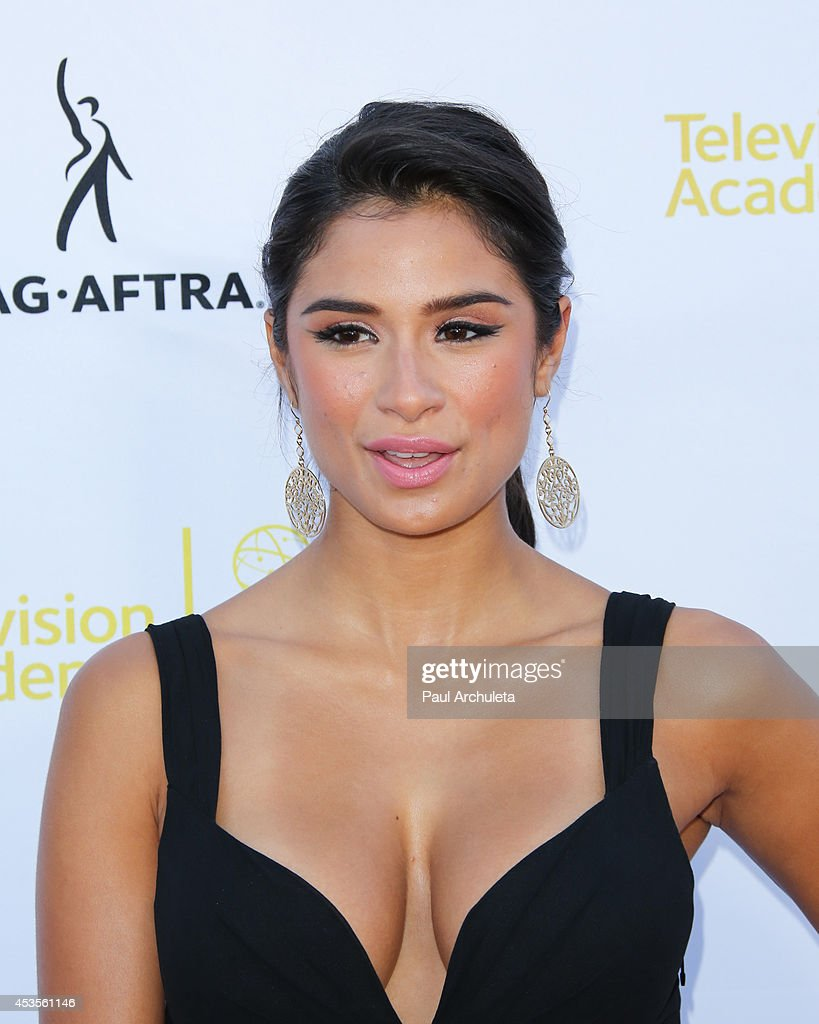 Actress <a gi-track='captionPersonalityLinkClicked' href=/galleries/search?phrase=Diane+Guerrero&family=editorial&specificpeople=11068460 ng-click='$event.stopPropagation()'>Diane Guerrero</a> attends the Television Academy and SAG-AFTRA's presentation of Dynamic and Diverse: A 66th Emmy Awards celebration of Diversity at Leonard H. Goldenson Theatre on August 12, 2014 in North Hollywood, California.