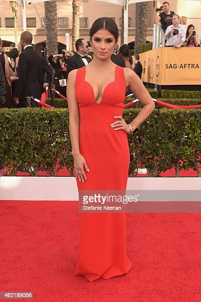 Actress Diane Guerrero attends TNT's 21st Annual Screen Actors Guild Awards at The Shrine Auditorium on January 25 2015 in Los Angeles California...
