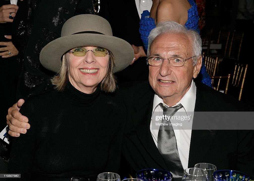 Actress <a gi-track='captionPersonalityLinkClicked' href=/galleries/search?phrase=Diane+Keaton&family=editorial&specificpeople=201554 ng-click='$event.stopPropagation()'>Diane Keaton</a> and Frank O. Gehry attend the Los Angeles Philharmonic Gala at the Walt Disney Concert Hall on October 4, 2007 in Los Angeles, California.