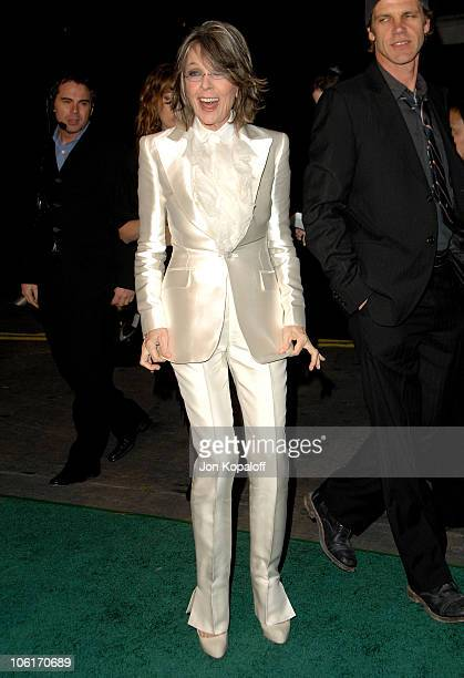 Actress Diane Keaton arrives at the Los Angeles Premiere 'Mad Money' at the Mann Village Theater on January 9 2008 in Westwood California