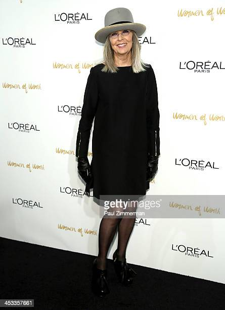 Actress Diane Keaton attends L'Oreal Paris' Women of Worth 2013 at The Pierre Hotel on December 3 2013 in New York City