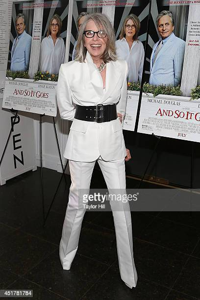Actress Diane Keaton attends the 'And So It Goes' premiere at Easthampton Guild Hall on July 6 2014 in East Hampton New York