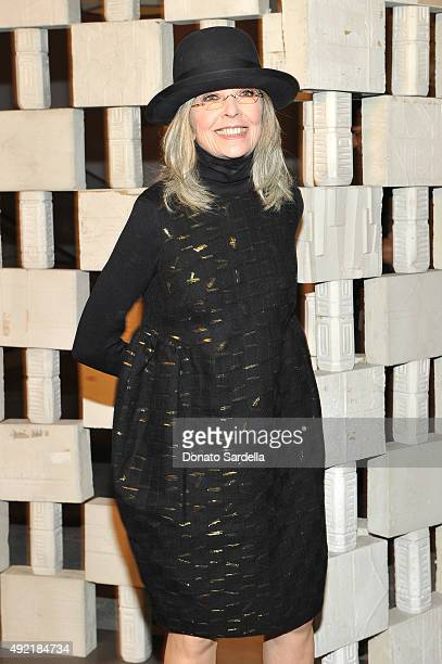 Actress Diane Keaton attends the Hammer Museum Gala in Garden sponsored by Bottega Veneta at Hammer Museum on October 10 2015 in Westwood California