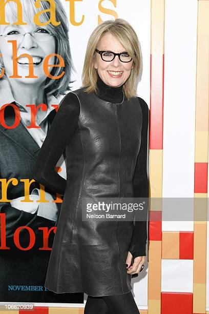 Actress Diane Keaton attends the New York Premiere of 'Morning Glory' at Ziegfeld Theatre on November 7 2010 in New York City