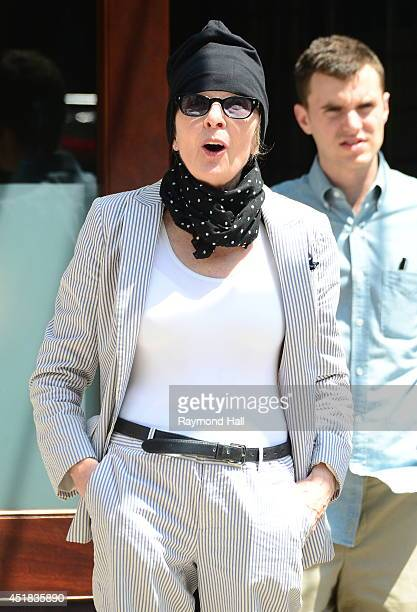 Actress Diane Keaton is seen in Soho on July 7 2014 in New York City