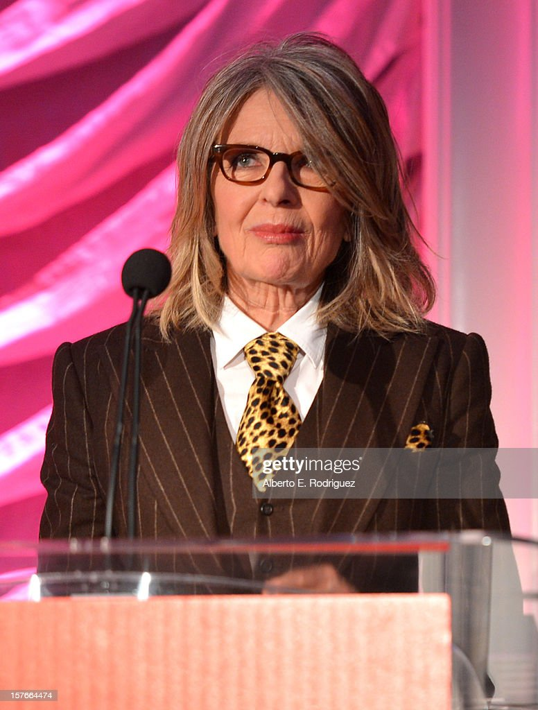 Actress Diane Keaton speaks onstage during The Hollywood Reporter's 'Power 100: Women In Entertainment' Breakfast at the Beverly Hills Hotel on December 5, 2012 in Beverly Hills, California.