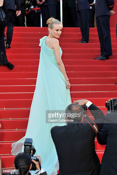 Actress Diane Krueger attends opening ceremony and 'Moonrise Kingdom' premiere during the 65th Annual Cannes Film Festival at Palais des Festivals on...