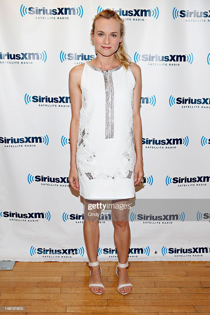 Actress Diane Krueger visits the SiriusXM Studio on July 10, 2012 in New York City.