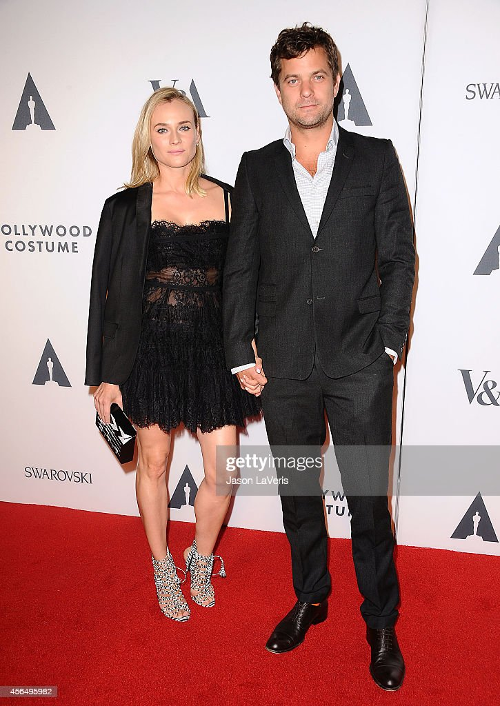 Actress Diane Kruger and actor Joshua Jackson attend the Academy of Motion Picture Arts and Sciences' Hollywood costume opening party at Wilshire May Company Building on October 1, 2014 in Los Angeles, California.