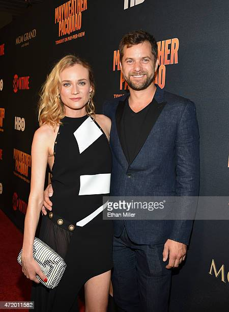 Actress Diane Kruger and actor Joshua Jackson attend the SHOWTIME And HBO VIP PreFight Party for 'Mayweather VS Pacquiao' at MGM Grand Hotel Casino...