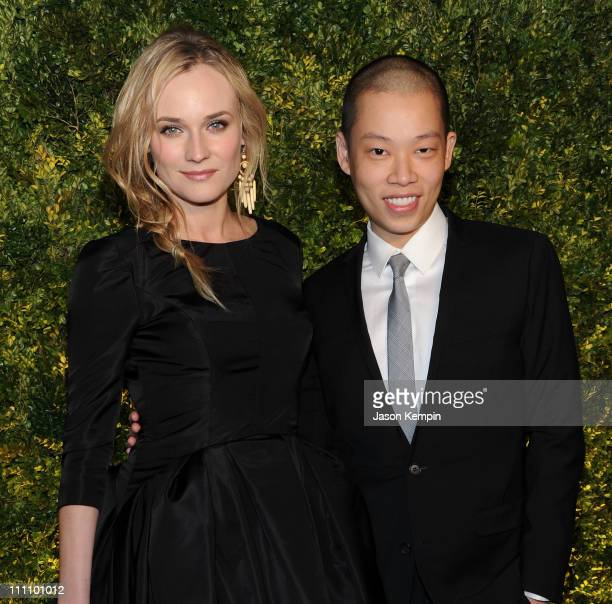 Actress Diane Kruger and designer Jason Wu attend the Green Auction A Bid To Save The Earth at Christie's on March 29 2011 in New York City