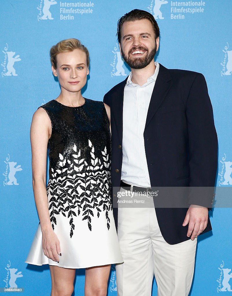 Actress <a gi-track='captionPersonalityLinkClicked' href=/galleries/search?phrase=Diane+Kruger&family=editorial&specificpeople=202640 ng-click='$event.stopPropagation()'>Diane Kruger</a> and director A.J. Edwards attend 'The Better Angels' photocall during 64th Berlinale International Film Festival at Grand Hyatt Hotel on February 10, 2014 in Berlin, Germany.