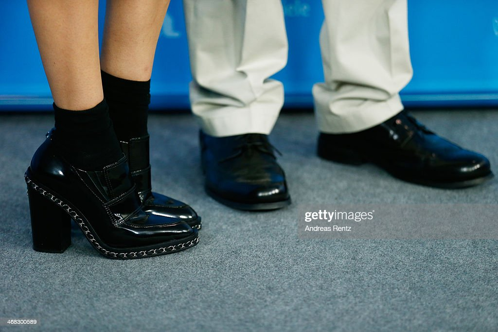 Actress Diane Kruger and director A.J. Edwards (shoe detail) attend 'The Better Angels' photocall during 64th Berlinale International Film Festival at Grand Hyatt Hotel on February 10, 2014 in Berlin, Germany.
