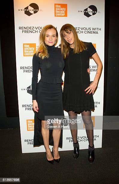 Actress Diane Kruger and Director Alice Winocour attend the 2016 RendezVous with French Cinema at Furman Gallery on March 5 2016 in New York City