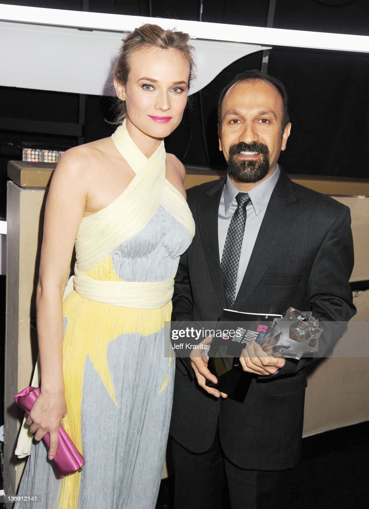 Actress <a gi-track='captionPersonalityLinkClicked' href=/galleries/search?phrase=Diane+Kruger&family=editorial&specificpeople=202640 ng-click='$event.stopPropagation()'>Diane Kruger</a> and director Asghar Farhadi attend the 17th Annual Critics' Choice Movie Awards held at The Hollywood Palladium on January 12, 2012 in Los Angeles, California.