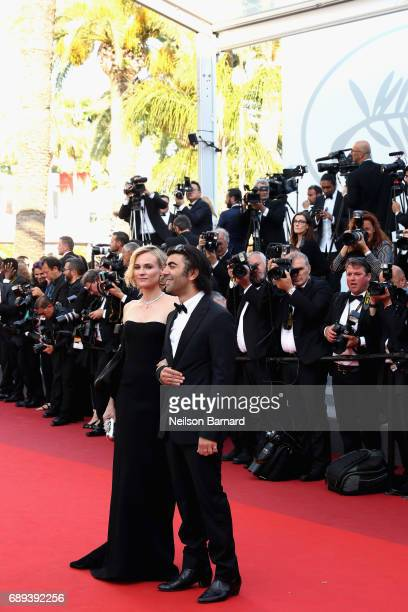 Actress Diane Kruger and director Fatih Akin attend the Closing Ceremony of the 70th annual Cannes Film Festival at Palais des Festivals on May 28...