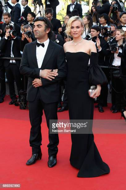 Actress Diane Kruger and director Fatih Akin of the 'In The Fade ' attend the Closing Ceremony during the 70th annual Cannes Film Festival at Palais...
