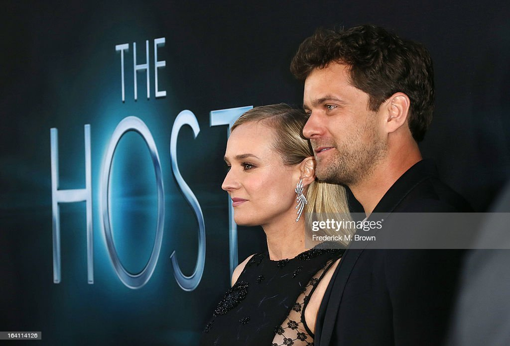 Actress Diane Kruger (L) and Joshua Jackson attend the Premiere of Open Roads Films 'The Host' at the ArcLight Cinemas Cinerama Dome on March 19, 2013 in Hollywood, California.