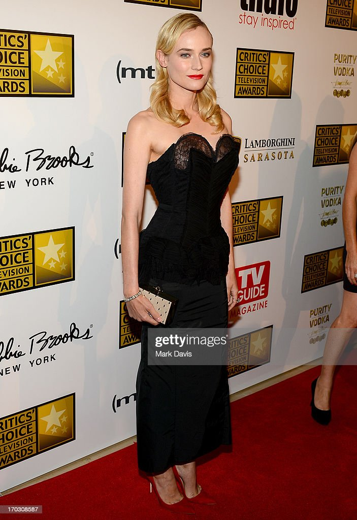 Actress Diane Kruger arrives at Broadcast Television Journalists Association's third annual Critics' Choice Television Awards at The Beverly Hilton Hotel on June 10, 2013 in Los Angeles, California.